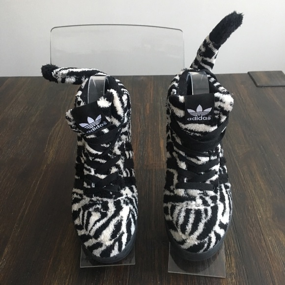 746dcfe15 adidas Other - Adidas Jeremy Scott Zebra Shoes